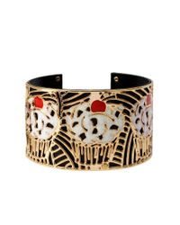 Betsey Johnson | White Photoetch Cut-Out Cupcake Bracelet | Lyst