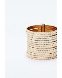 Urban Outfitters - Metallic Cut Brass Bands Ring - Lyst
