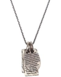 Tobias Wistisen | Gray Notebook Necklace for Men | Lyst