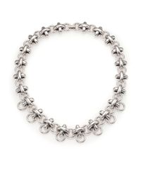 Giles & Brother - Metallic X Knot Chain Necklace - Lyst