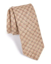 W.r.k. - Brown Geo Print Linen Tie for Men - Lyst