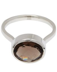 Monica Vinader | Metallic Silver Smoky Quartz Candy Ring | Lyst