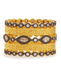 Freida Rothman - Metallic Wide Cz Byzantine Ring - Lyst