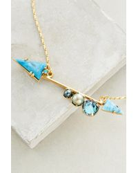 Elizabeth Cole | Blue Bristol Arrow Necklace | Lyst