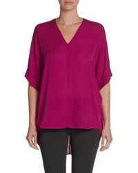 Vince - Pink Silk Doublev Silk Tunic - Lyst