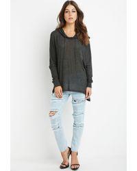 Forever 21 | Gray Oversized Hooded Top | Lyst