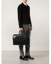 Saint Laurent - Black 'Duffle 24' Tote for Men - Lyst