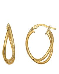 Lord & Taylor | Metallic 14kt Yellow Gold Hoop Earrings | Lyst