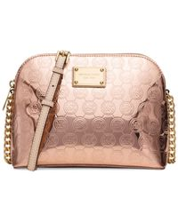 Michael Kors | Pink Michael Cindy Large Dome Crossbody | Lyst