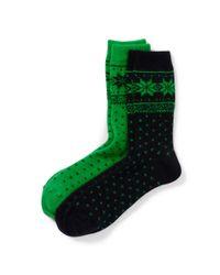 Ralph Lauren | Green Snowflake Trouser Socks | Lyst