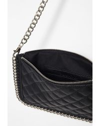 Forever 21 - Black Faux Leather Chained Bag - Lyst