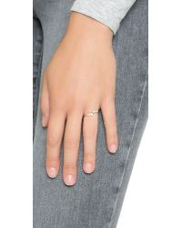 Shashi | Metallic Noa Ring - Gold/clear | Lyst