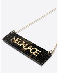 MM6 by Maison Martin Margiela | Metallic Plexi Necklace With Pendant | Lyst
