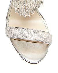 Betsey Johnson | Metallic Grand Satin Fringe Sandals | Lyst