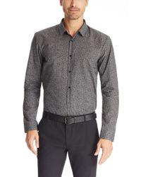 HUGO - Gray 'ero' | Slim Fit, Cotton Button Down Shirt for Men - Lyst