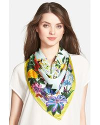 Echo - Multicolor 'Secret Garden' Silk Square Scarf - Lyst