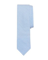 Brooks Brothers - Blue Seersucker Stripe Slim Tie for Men - Lyst