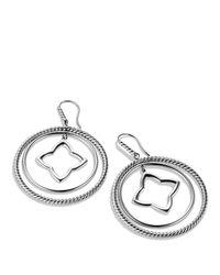 David Yurman | Metallic Quatrefoil Large Earrings | Lyst