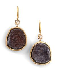 Kimberly Mcdonald - Purple Geode  Diamond Drop Earrings - Lyst