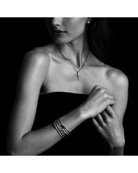 David Yurman   Metallic X Station Bracelet With Diamonds, 4mm   Lyst