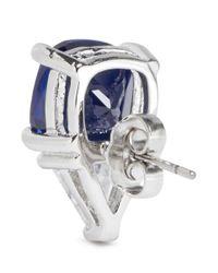CZ by Kenneth Jay Lane - Blue Cushion And Trillion Cut Cubic Zirconia Earrings - Lyst