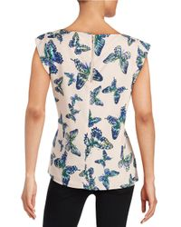 Cece by Cynthia Steffe | Blue Butterfly Short-sleeved Blouse | Lyst