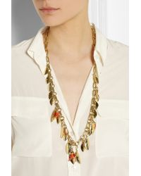 Aurelie Bidermann | Metallic Monteroso Gold-plated Necklace | Lyst