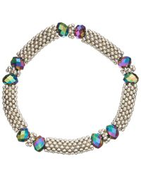 John Lewis | Metallic Crystal Bead Stretch Bracelet | Lyst