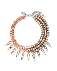 Assad Mounser | Pink 'moonage Daydream' Spike Curb Chain Collar Necklace | Lyst