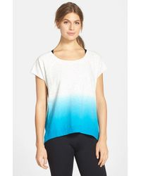 Marc New York | White By Andrew Marc Dip Dye Short Sleeve High/low Pullover | Lyst