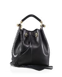 Chloé - Black Gala Leather Bucket Bag - Lyst