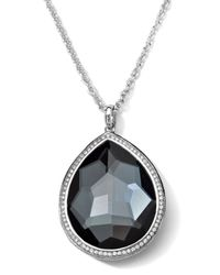 Ippolita - Metallic Stella Medium Hematite Teardrop Pendant Necklace - Lyst