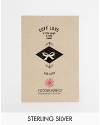 Dogeared - Metallic Sterling Silver Cuff Love Bow Ear Cuff - Lyst