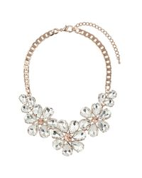 TOPSHOP | Orange Premium Flower Necklace | Lyst