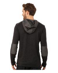DKNY | Gray Long Sleeve Loose Knit Jasper Jersey/chambray Mix Hooded Henley for Men | Lyst