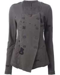 Rundholz - Gray Raw-Edge Double-Breasted Jacket - Lyst