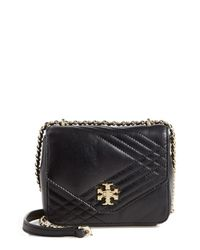 Tory Burch Black 'mini Kira' Quilted Crossbody Bag