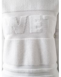 Alexander Wang - White Wet-Logo Cotton Sweater - Lyst