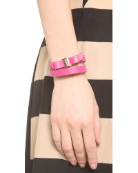 Ferragamo - Purple Gancini Double Wrap Bracelet - Lyst