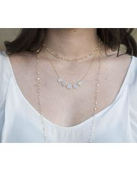 """Anne Sisteron - Pink 14kt Rose Gold Precious Topaz 36"""" Necklace - Lyst"""