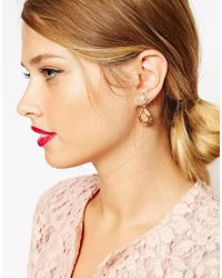 ASOS | Metallic Opulent Swing Earrings | Lyst