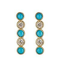 Jennifer Meyer | Blue Women's Bezel Bar Earrings | Lyst