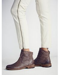Free People | Brown Granada Ankle Boot | Lyst