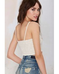 Nasty Gal - White Jen's Pirate Booty Ma Bella Lace Crop Top - Lyst