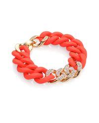ABS By Allen Schwartz | Pavé Silicone Link Bracelet/red | Lyst