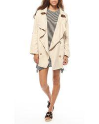 Azalea | Natural Uptown Drape Collar Jacket | Lyst