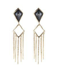 Alexis Bittar - Black Fancy Kite Encrusted Fringe Clip Earring You Might Also Like - Lyst