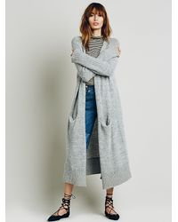 Free People | Gray Womens Santa Cruz Cardigan | Lyst