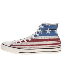 Converse   Blue Chuck Taylor Trainers in Multicolour   Lyst