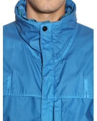 Stone Island - Blue Garment Dyed Coated Muslin Casual Jacket for Men - Lyst
